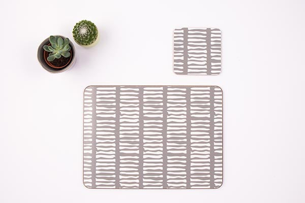 Grey Lines Melamine Placemat