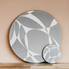 Grey Abstract Rectangle Placemat Set - MAiK sustainably sourced, ethically produced.
