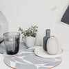 Grey Abstract Round Placemat Set - MAiK sustainably sourced, ethically produced.