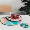 Angles Round Placemat Set - MAiK sustainably sourced, ethically produced.