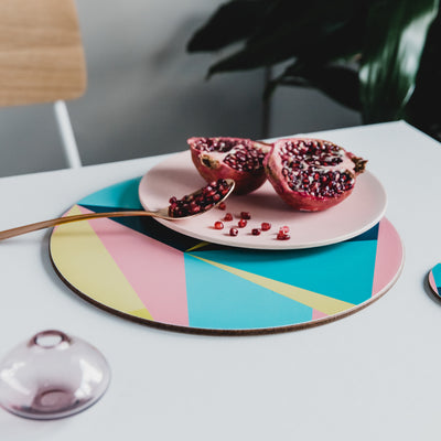 Angles Round Placemat Set