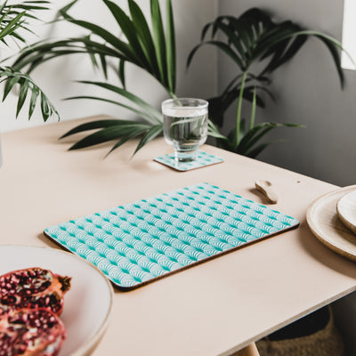 Geo Leaf Rectangle Placemat Set
