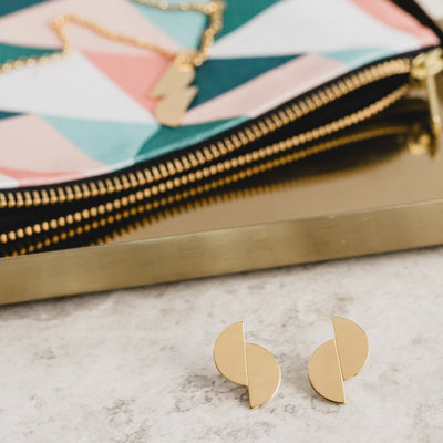Union Circles Studs - Gold