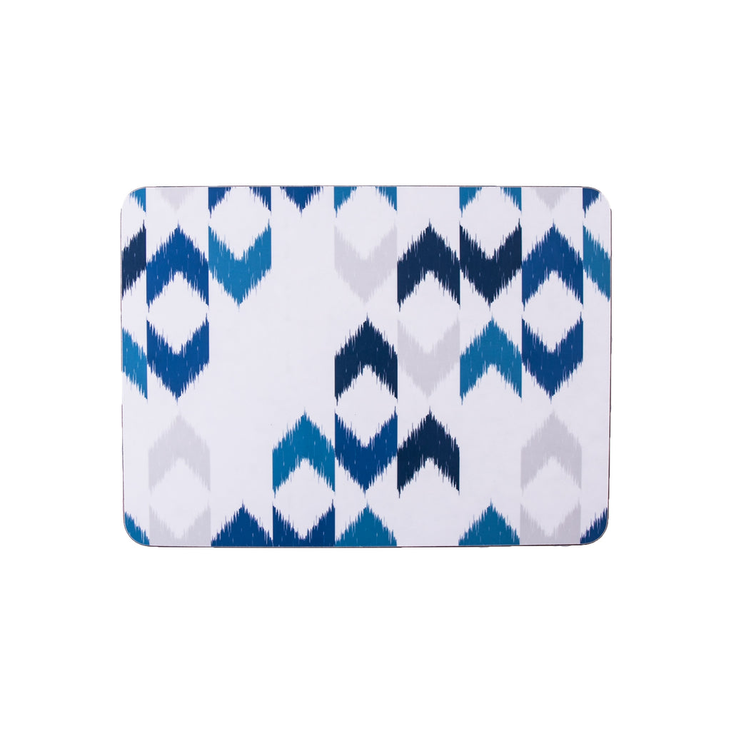 Blue Ikat Rectangle Placemat - MAiK sustainably sourced, ethically produced.