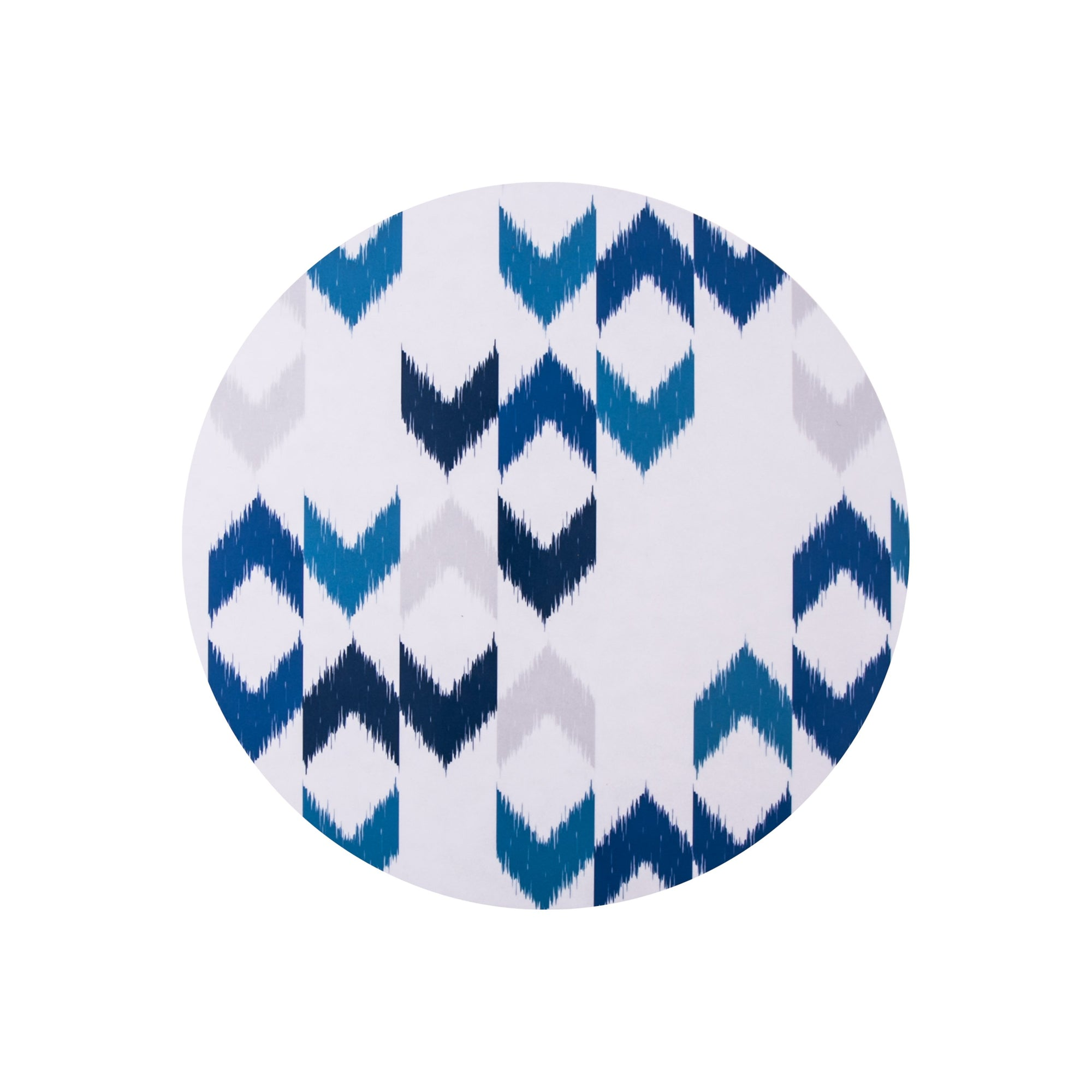 Blue Ikat Round Placemat Set - MAiK sustainably sourced, ethically produced.