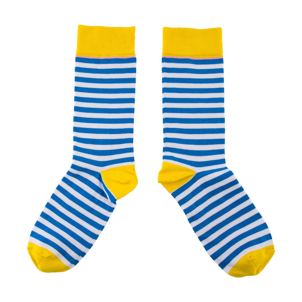 Breton Blue Socks - MAiK sustainably sourced, ethically produced.