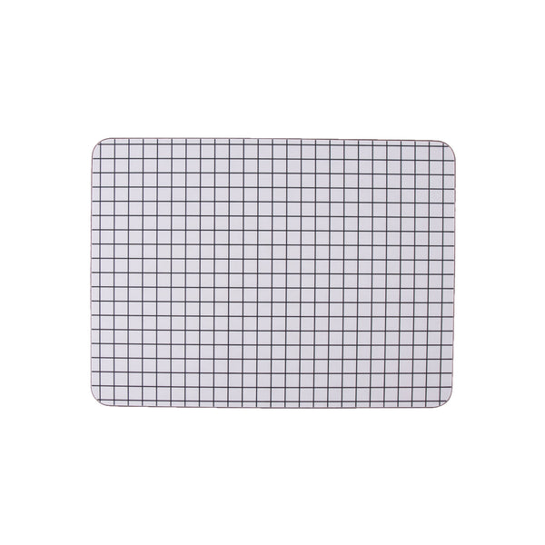 Check Rectangle Placemat - MAiK sustainably sourced, ethically produced.