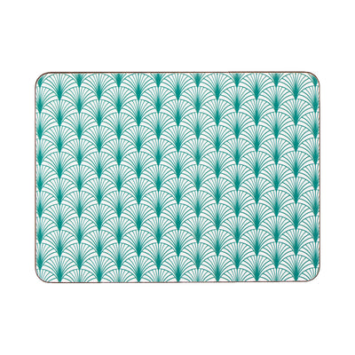 Geo Leaf Rectangle Placemat Set - MAiK sustainably sourced, ethically produced.