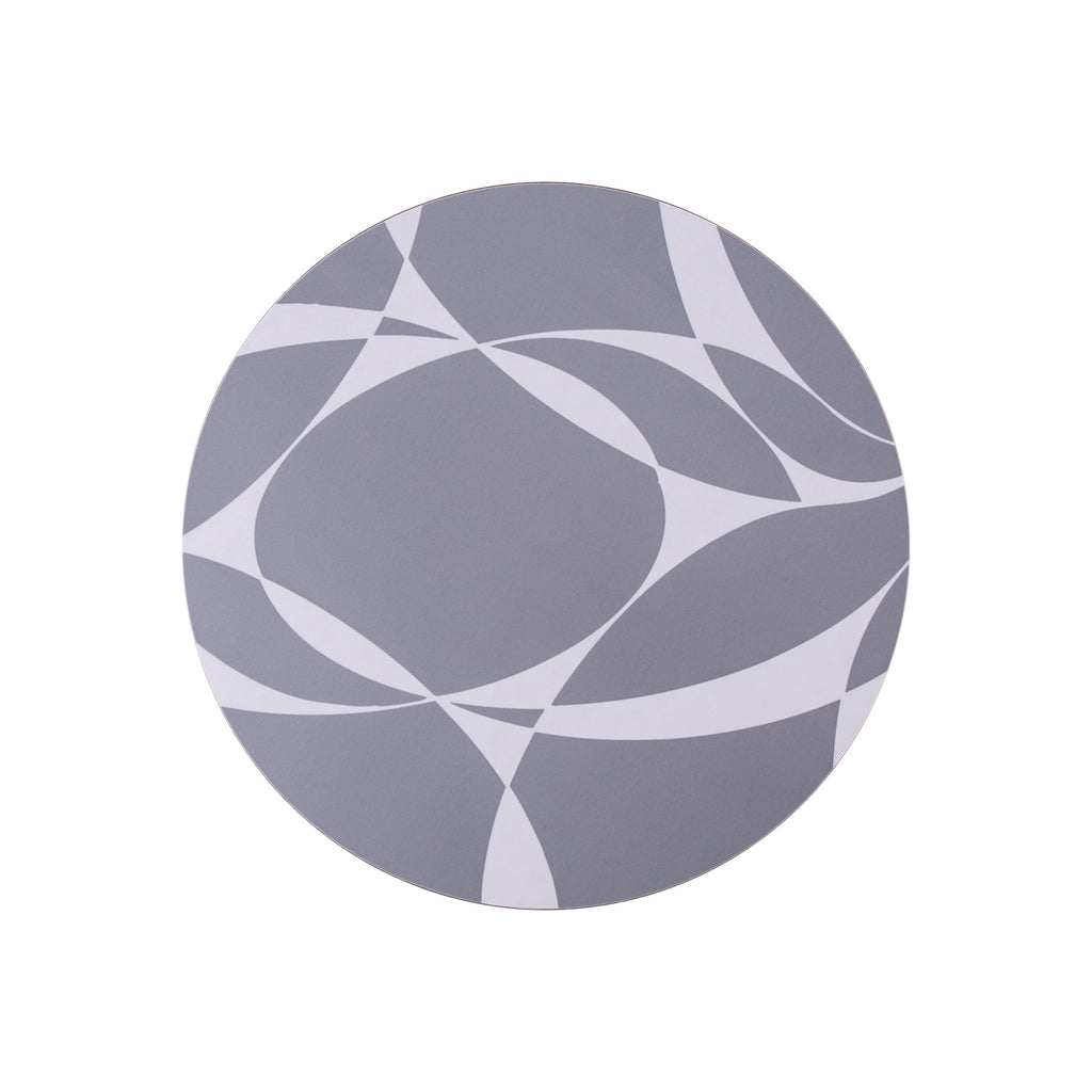 Grey Abstract Round Placemat - MAiK sustainably sourced, ethically produced.