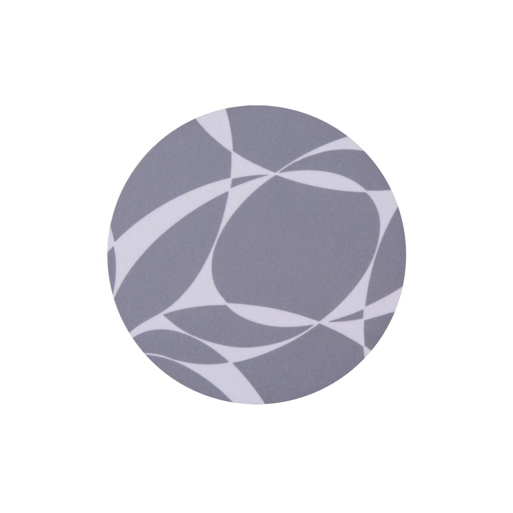 Grey Abstract Round Coaster - MAiK sustainably sourced, ethically produced.