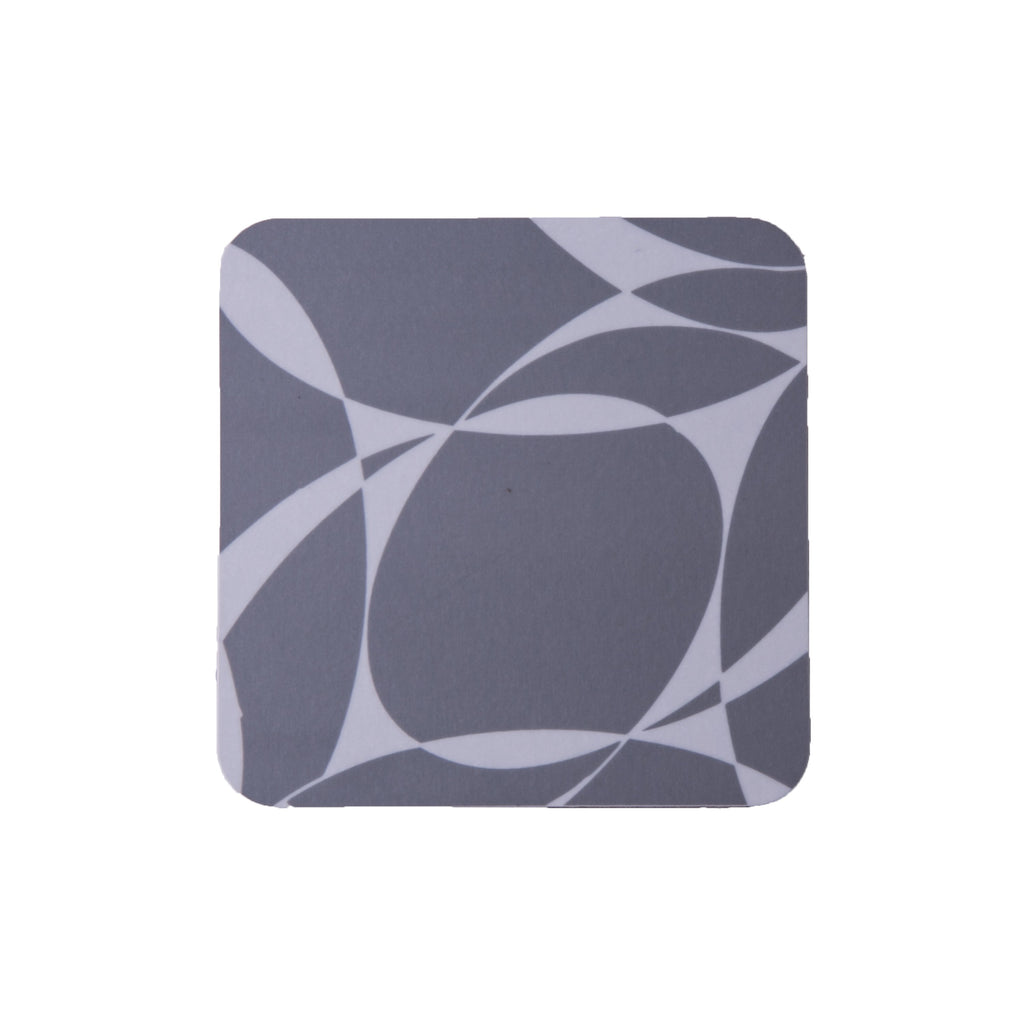 Grey Abstract Square Coaster - MAiK sustainably sourced, ethically produced.