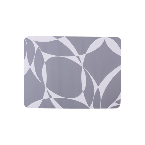 Grey Abstract Rectangle Placemat - MAiK sustainably sourced, ethically produced.