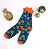 asymmetric patterned socks