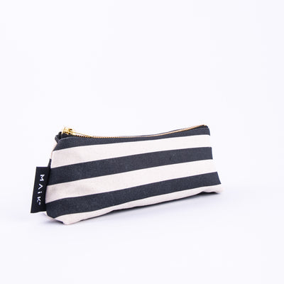 Stripes Mini Make Up Bag - MAiK sustainably sourced, ethically produced.