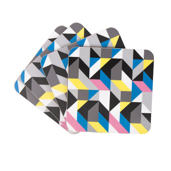Colour Triangle coaster set - MAiK