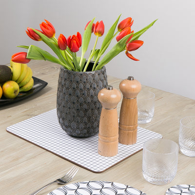 Check Extra Large Table Mat - MAiK sustainably sourced, ethically produced.