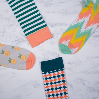 Arrow Coral Socks - MAiK sustainably sourced, ethically produced.