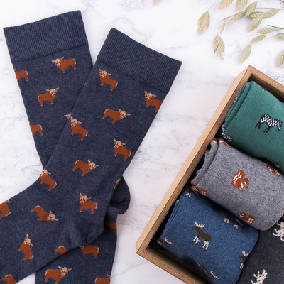 Highland Cow Socks