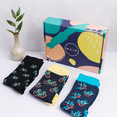 Bicycle v4 Socks - MAiK sustainably sourced, ethically produced.