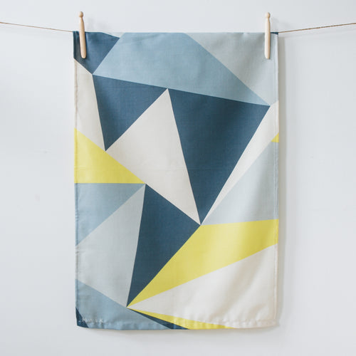 Yellow Angles Organic Cotton Tea Towel