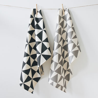 Set of 2 Geometric Tea Towels - MAiK sustainably sourced, ethically produced.