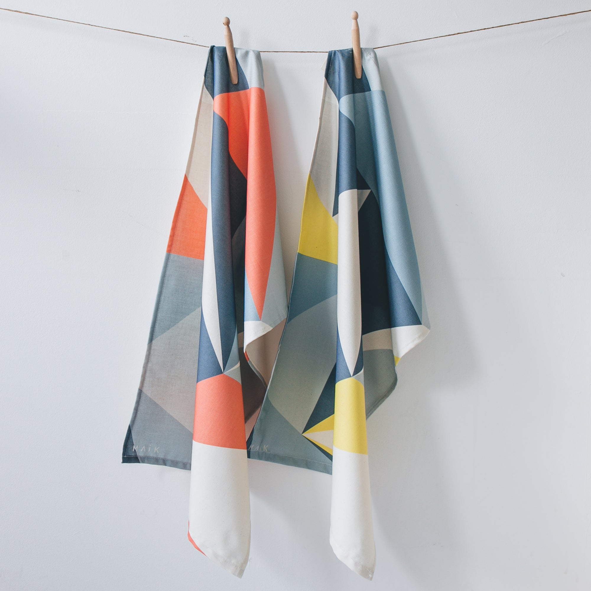 Set of 2 Angles Tea Towels - MAiK sustainably sourced, ethically produced.