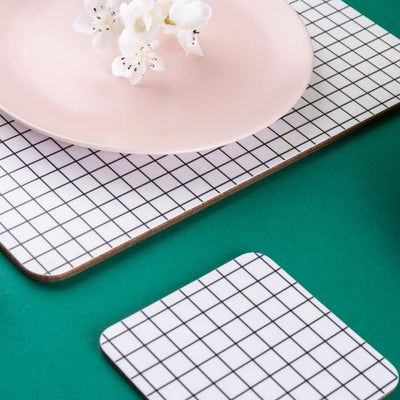 Check Square Coaster - MAiK sustainably sourced, ethically produced.