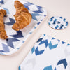 Blue Ikat Round Coaster - MAiK sustainably sourced, ethically produced.