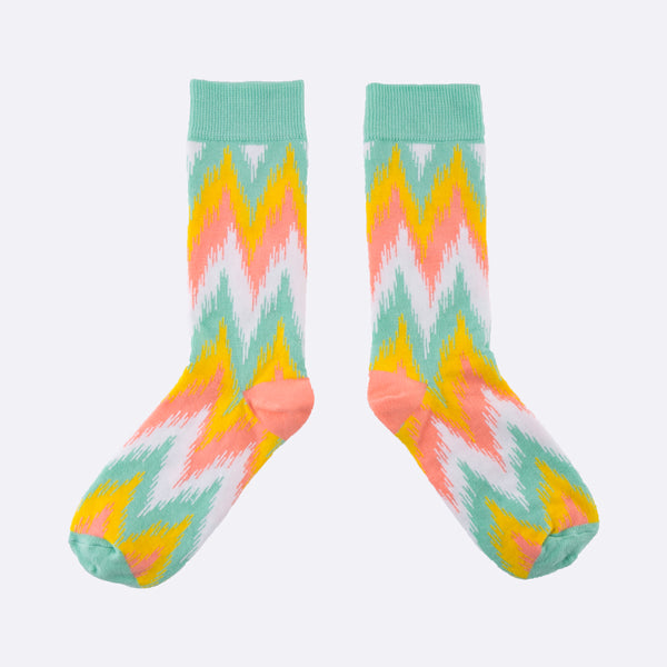 Spring Ikat print cotton socks for women from MAiK London