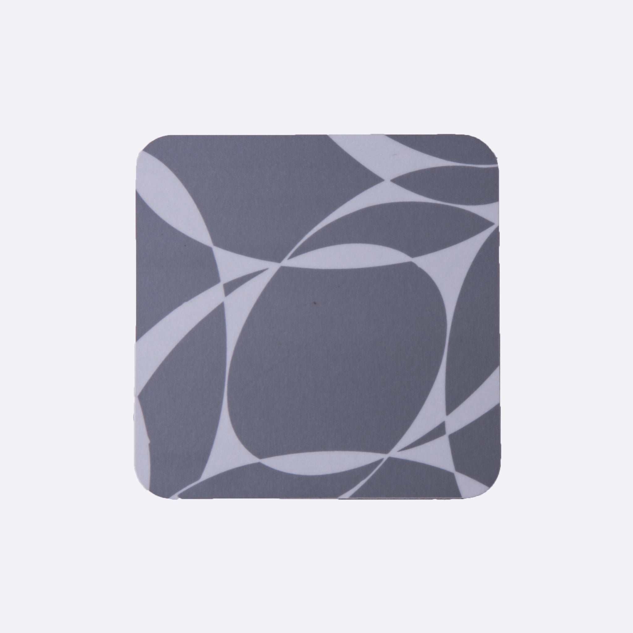 grey abstract coaster set from MAiK London. Set of 4 coasters.