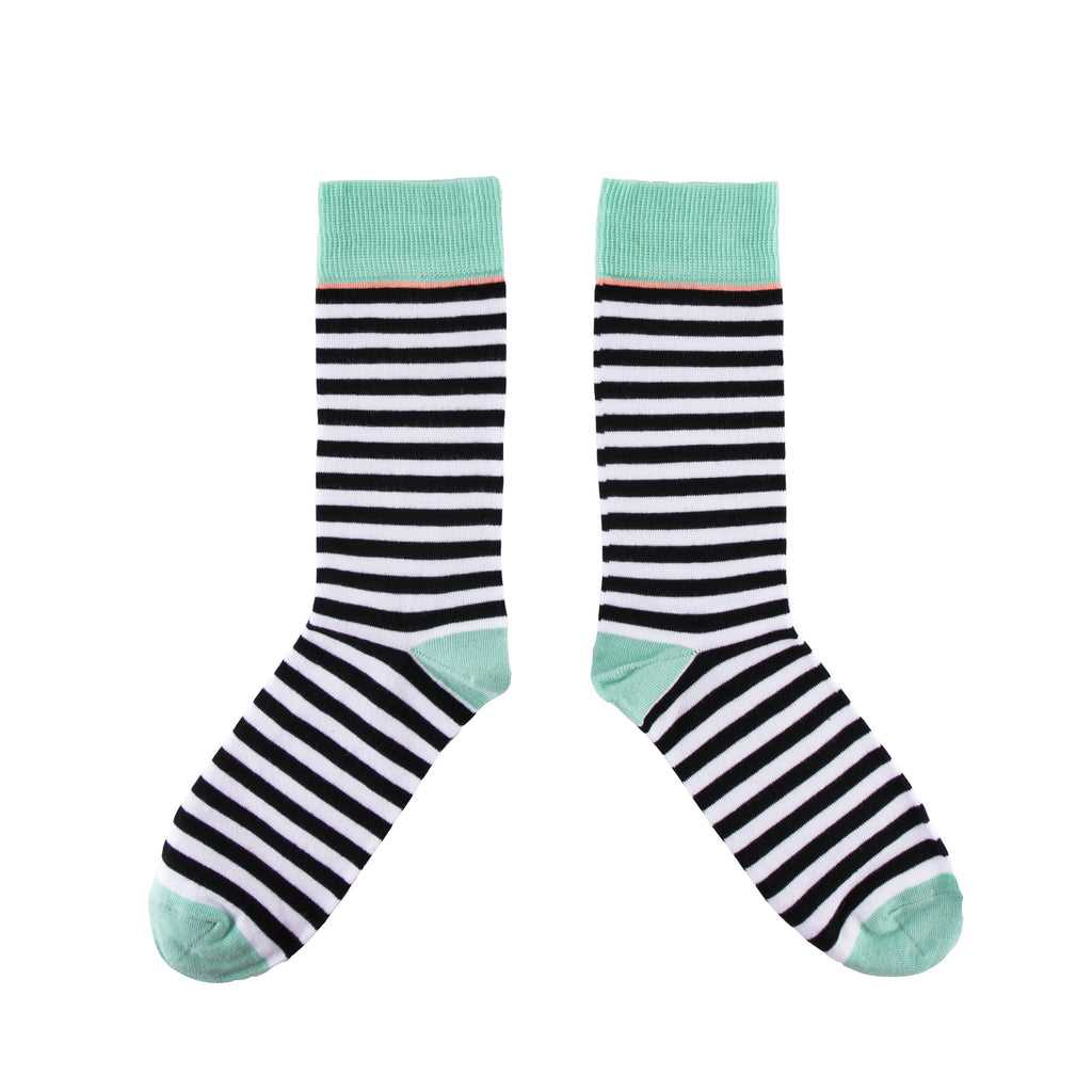Breton Black Socks - MAiK sustainably sourced, ethically produced.
