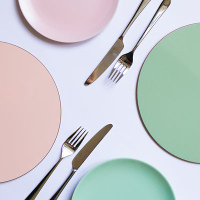Sage Round Placemat Set - MAiK sustainably sourced, ethically produced.