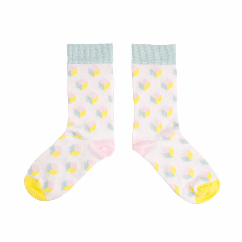 Pastel Cube Socks - MAiK sustainably sourced, ethically produced.