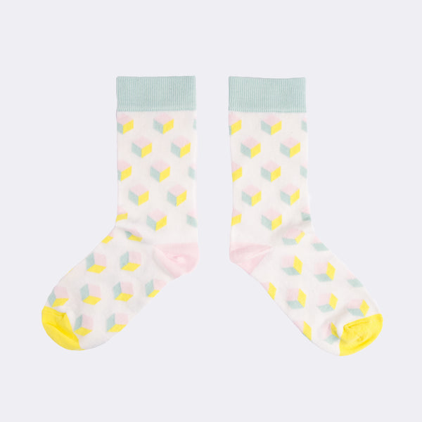Pastel Cube Socks from MAiK London