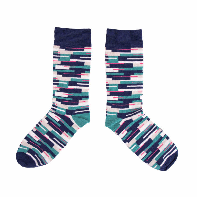 Colour Block Socks - MAiK sustainably sourced, ethically produced.
