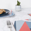 Coral Angles Rectangle Placemat - MAiK sustainably sourced, ethically produced.