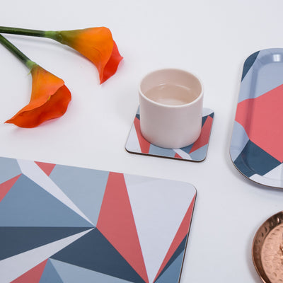 Coral Angles Square Coaster - MAiK sustainably sourced, ethically produced.