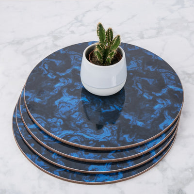 Marble Round Placemat Set - MAiK sustainably sourced, ethically produced.