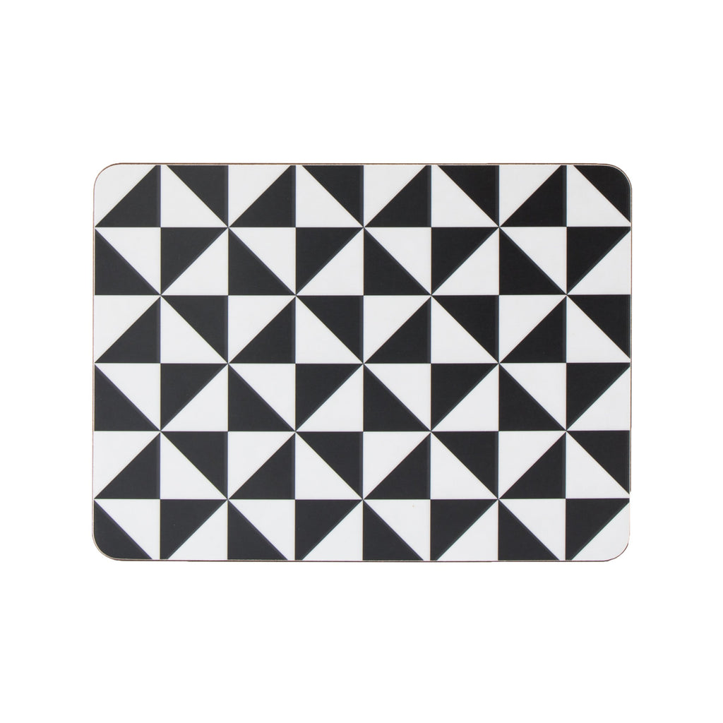 Triangles Rectangle Placemat Set - MAiK sustainably sourced, ethically produced.