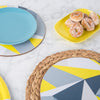 Yellow Angles Round Placemat Set - MAiK sustainably sourced, ethically produced.