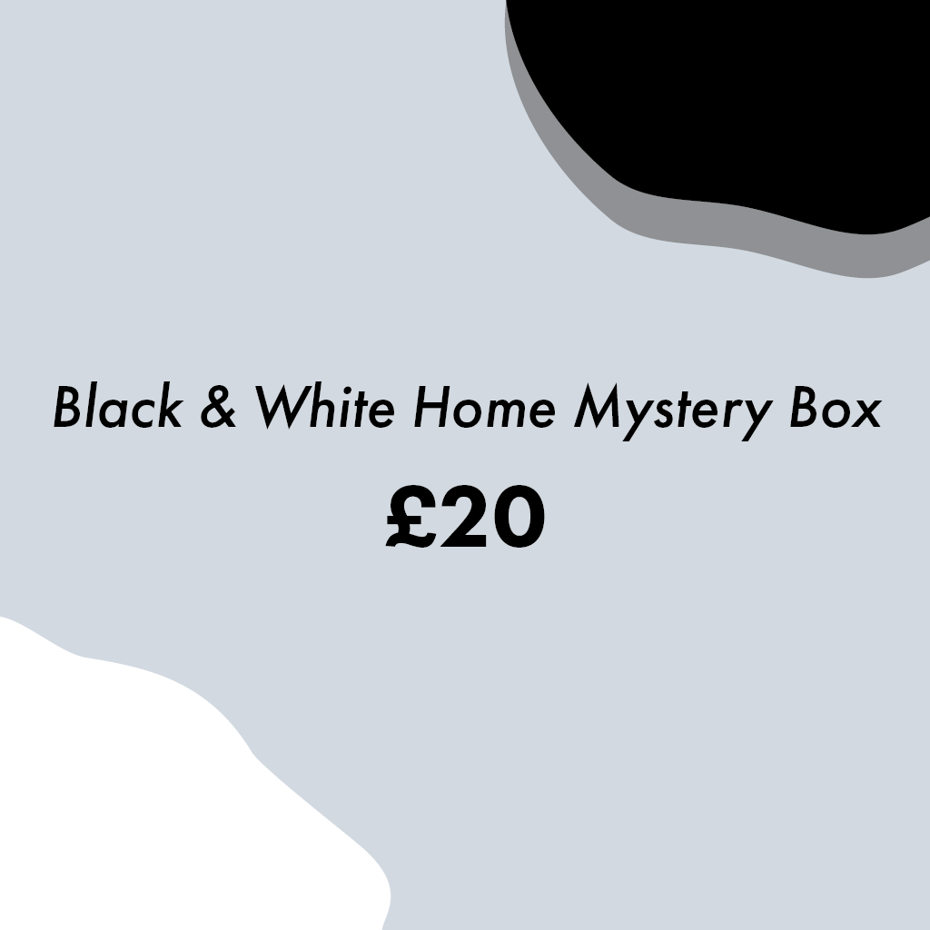 Black and White Home Mystery Box (small) - MAiK sustainably sourced, ethically produced.