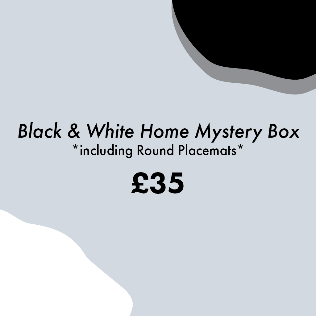 Black and White Home Mystery Box (large) - MAiK sustainably sourced, ethically produced.