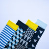 Blue Cube v2 Socks - MAiK sustainably sourced, ethically produced.