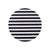 Stripes Round Coaster - MAiK sustainably sourced, ethically produced.