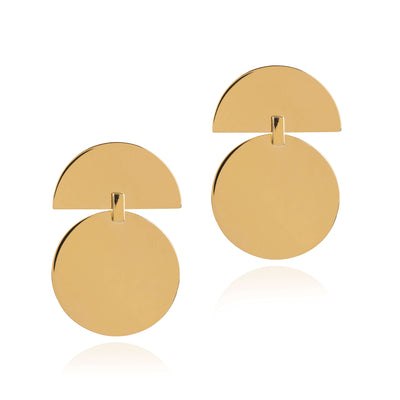 Union Drop Earrings - Gold