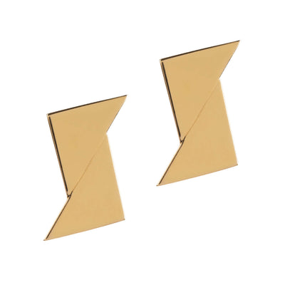 Union Triangles Studs - Gold