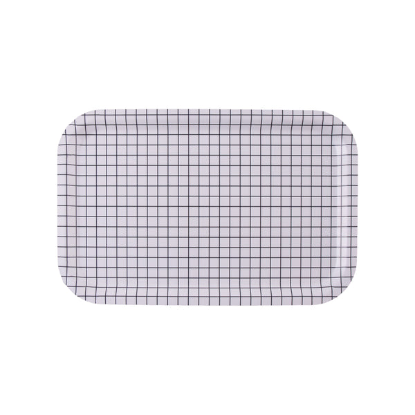 White Check Tray - MAiK sustainably sourced, ethically produced.