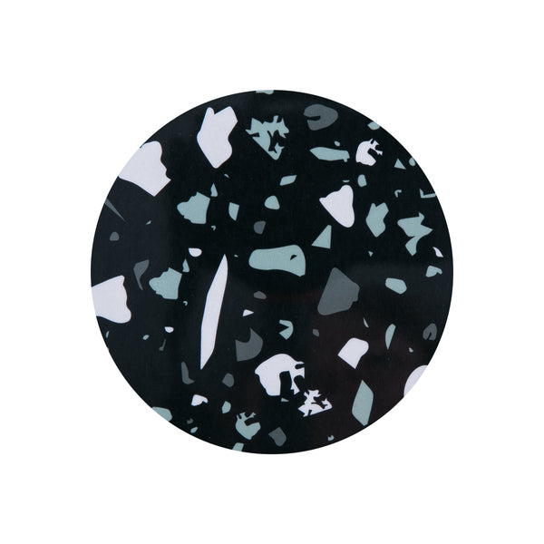 Black Terrazzo Round Coaster - MAiK sustainably sourced, ethically produced.