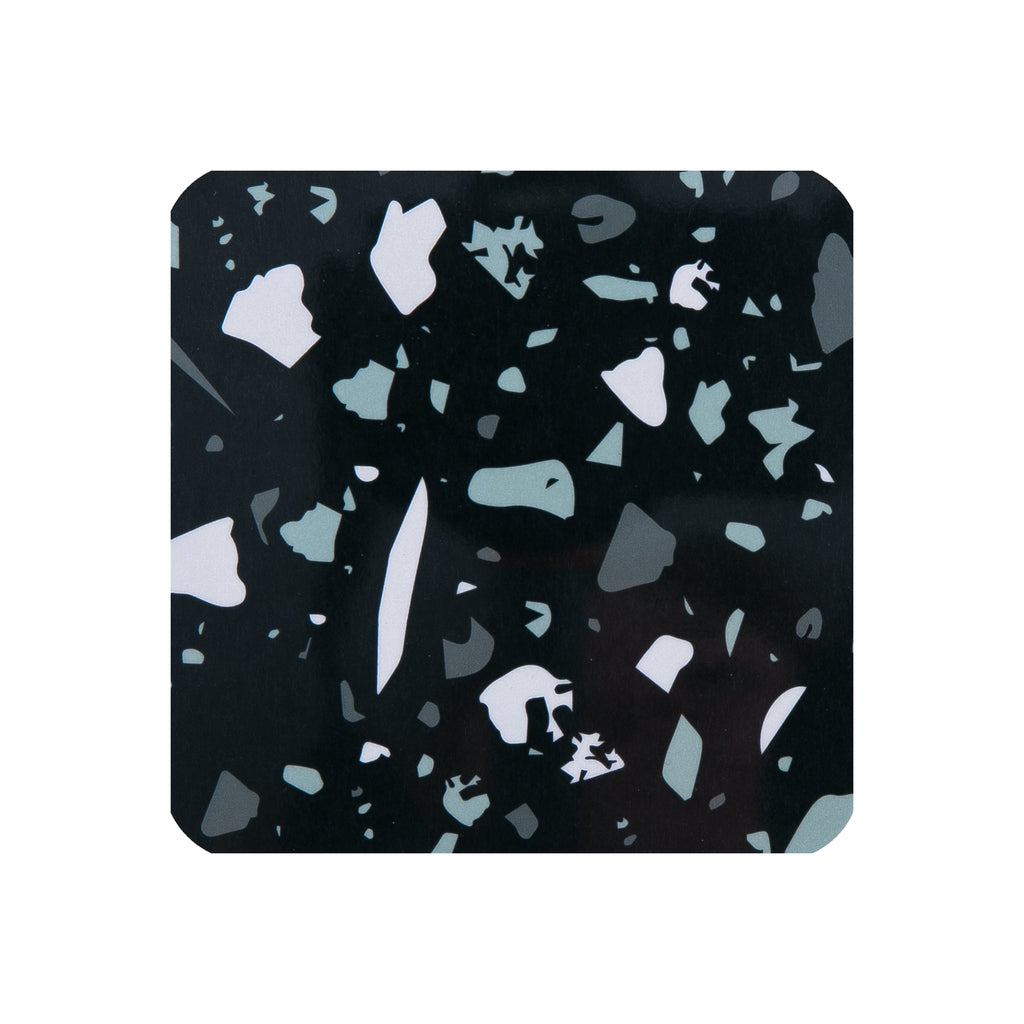 Black Terrazzo Square Coaster - MAiK sustainably sourced, ethically produced.
