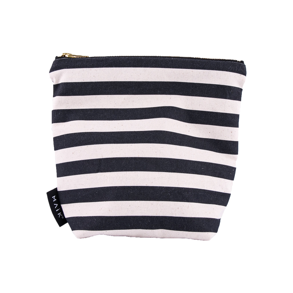 Stripes Make Up Bag - MAiK sustainably sourced, ethically produced.
